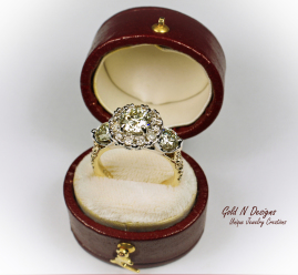 Created Using the clients Diamonds and Gold