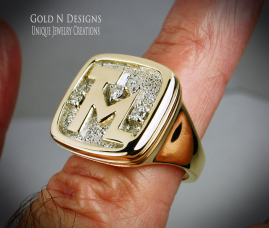 Diamonds and Gold provided by the client.