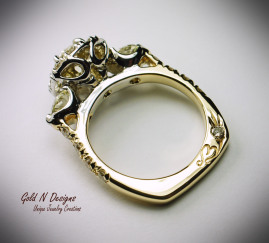Gold N Designs Unique Engagement ring Creation