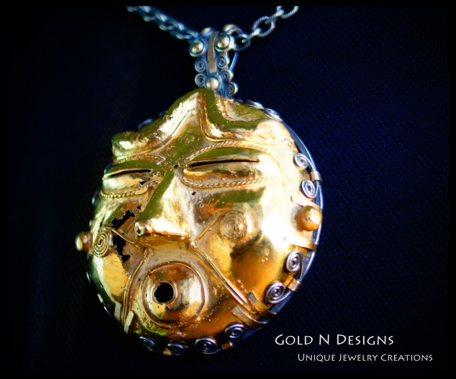Gold n designs the relic pendant we created a unique pendant by using the fabrication method of making aloadofball Image collections